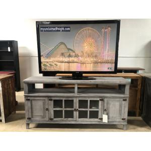 """L.M.T. Rustic and Western Imports - 72"""" TV Console Gray"""