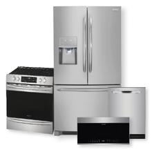 See Details - Frigidaire Gallery 26.8 Cu. Ft. French Door Refrigerator & 30'' Front Control Electric Range with Air Fry Package