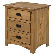 See Details - Mission 3 Drawer Nightstand