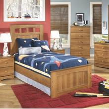 See Details - Twin Bed, Nightstand, Dresser, Mirror, and Chest with Drawers