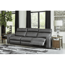 Samperstone - Gray - 2 Power Recliner Sectional