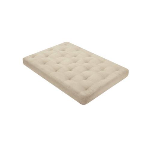 6 Inch Foam Futon Mattress Khaki Full Size