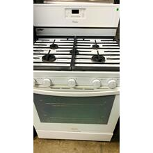 See Details - USED- White 30-Inch Whirlpool Gold® Self-Cleaning Freestanding Gas Range- G30WHSTV-U SERIAL #118