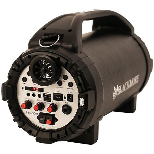 Blackmore Pro Audio Rechargeable Speaker With Bluetooth/FM/USB/TF/Mic-In, Black, BTU-5001-B