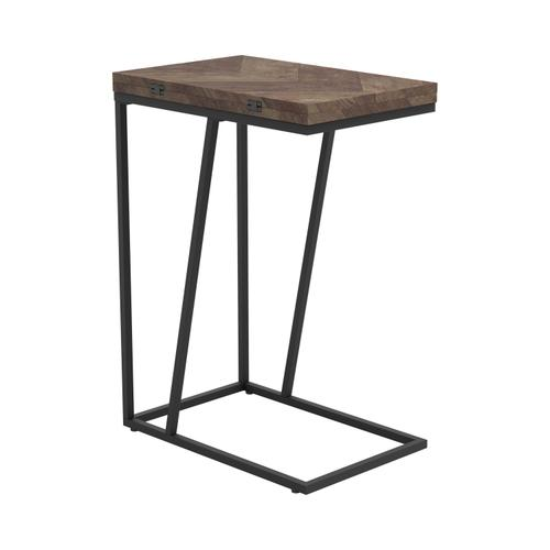 Chevron Tobacco Expandable Accent Table