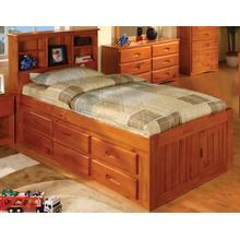 View Product - Captain's Bed with 6 Drawers - Honey