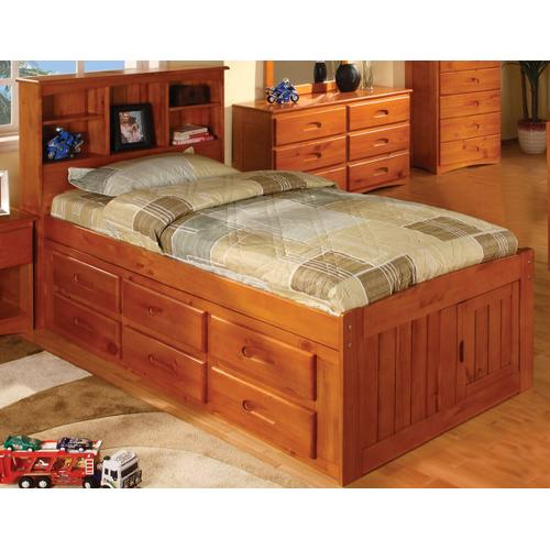 Captain's Bed with 6 Drawers - Honey