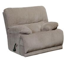 Jules Chaise Rocker Recliner in Pewter Fabric