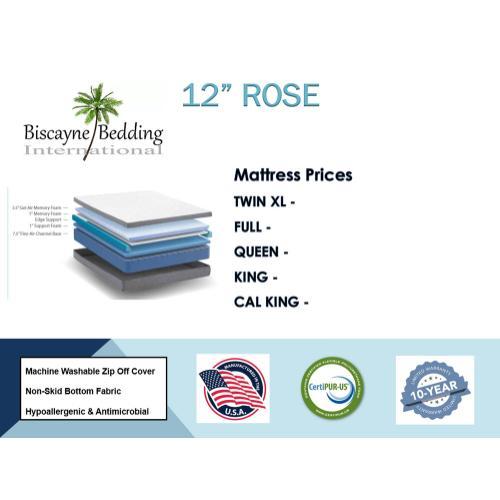 """Biscayne Bedding - 12"""" Rose"""