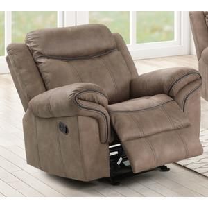 Harley Light Brown Glider Recliner