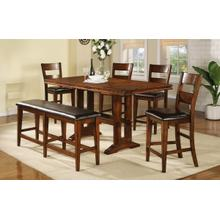 """See Details - 7Pc 78"""" Tall Table Set - Mango"""