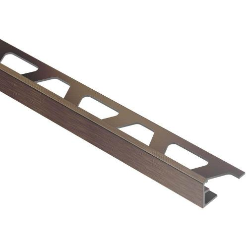 Jolly Brushed Antique Bronze Anodized Aluminum 5/16 in. x 8 ft. 2-1/2 in. Metal Tile Edging Trim