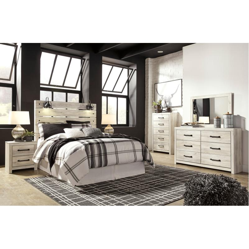 View Product - Cambeck - Whitewash 4 Piece Bedroom Set
