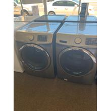 See Details - Refurbished Grey Electric Samsung Washer Dryer Set. Please call store if you would like additional pictures. This set carries our 6 month warranty, MANUFACTURER WARRANTY AND REBATES ARE NOT VALID (Sold only as a set)