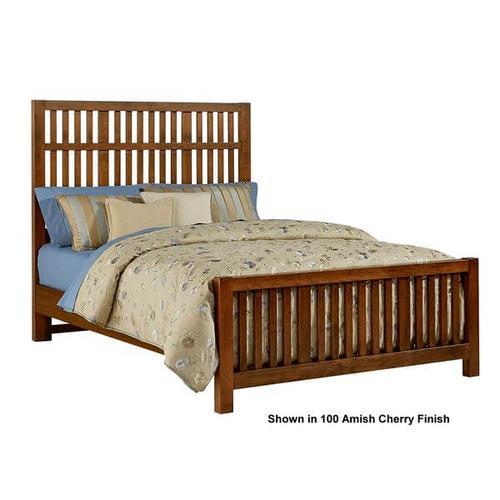 Vaughan-Bassett - Artisan & Post Craftsman 3-Piece Queen Size Slat Bed in Rustic Cherry