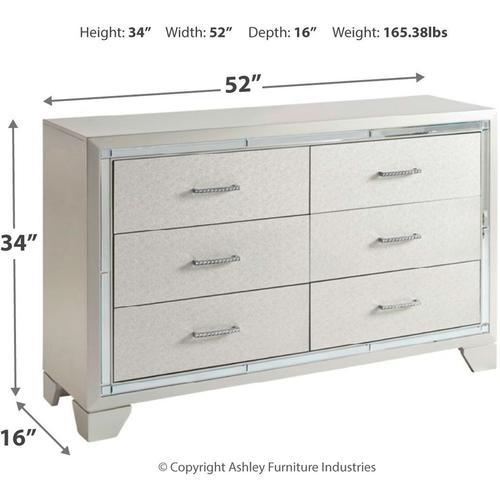 B410 7PC Set: Queen Panel Bed, Dresser, Mirror, Chest, & Nightstand (Lonnix)