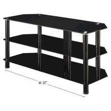 INNOVEX Glass TV Stand - Black
