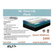 Ashely Mt. Dana Ltd. Plush Mattress by Sierra Sleep