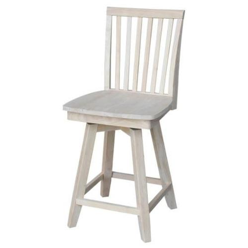 24 inch tall Mission Swivel Counterstool