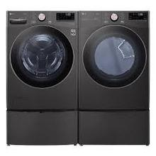 4.5 CF Ultra Large Capacity FL Washer w/ AIDD, Turbowash, Steam, Wi-Fi - Black Steel; 7.4 CF Ultra Large Capacity Electric Dryer w/Sensor Dry, Truesteam, Wi-Fi - Black Steel