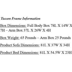 Mattress Discount Southgate - Tucson Butternut Futon Frame