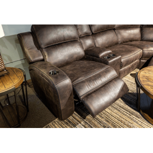 Warehouse M - 6PC Power Reclining Sectional w/Lighted lift Console & Power Headrest       (WARE-70086DK)