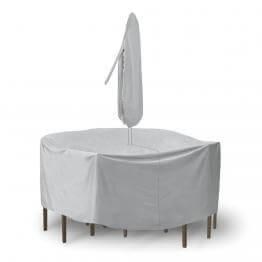 """Round Table & Chair Set Cover, 48"""" x 54"""" Table With 4-6 High Back Chairs"""