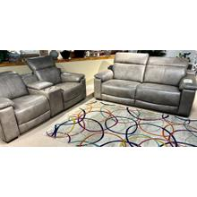 See Details - Georgia Ash Leather Full Power Sofa & Loveseat