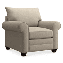 Alex Roll Arm Chair - Straw
