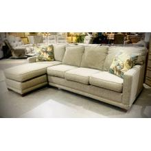 See Details - Kennedy Sleeper Chaise Sectional in Fossill   DISPLAY MODEL *ASIS*    (*MISCSALE)