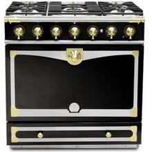 Gloss Black Albertine 90 with Polished Brass Accents