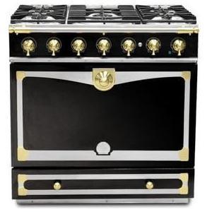 Lacornue Cornufe - Gloss Black Albertine 90 with Polished Brass Accents