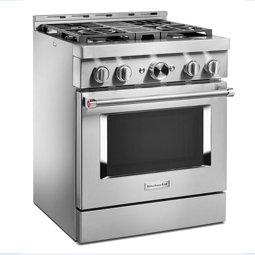 KitchenAid - KitchenAid® 30'' Smart Commercial-Style Gas Range with 4 Burners