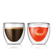 View Product - Bodum Pavina Double Wall Glass Extra Small Set of 2, 2.5 Ounces