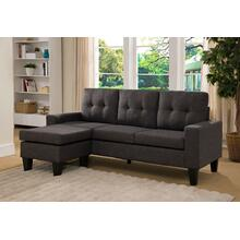 View Product - CHARCOAL Tufted Back Sectional Sofa