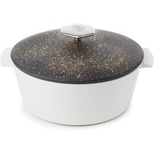 See Details - Revol Revolution 2 Round Cocotte with Lid Cosmos Gold, 3.40 L