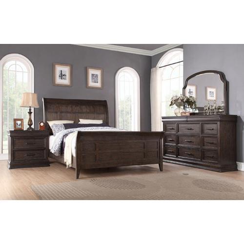 Xcalibur Queen Sleigh Bed