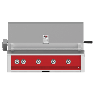 """Aspire By Hestan 42"""" Built-In Grill With U-Burner, Sear, And Rotisserie LP Matador Red"""
