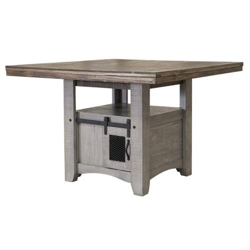 International Furniture Direct - PUEBLO GRAY COUNTER HEIGHT TABLE