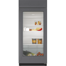 """See Details - 36"""" Classic Refrigerator with Glass Door - Panel Ready"""