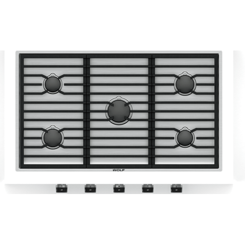 """Wolf - 36"""" Contemporary Gas Cooktop - 5 Burners"""