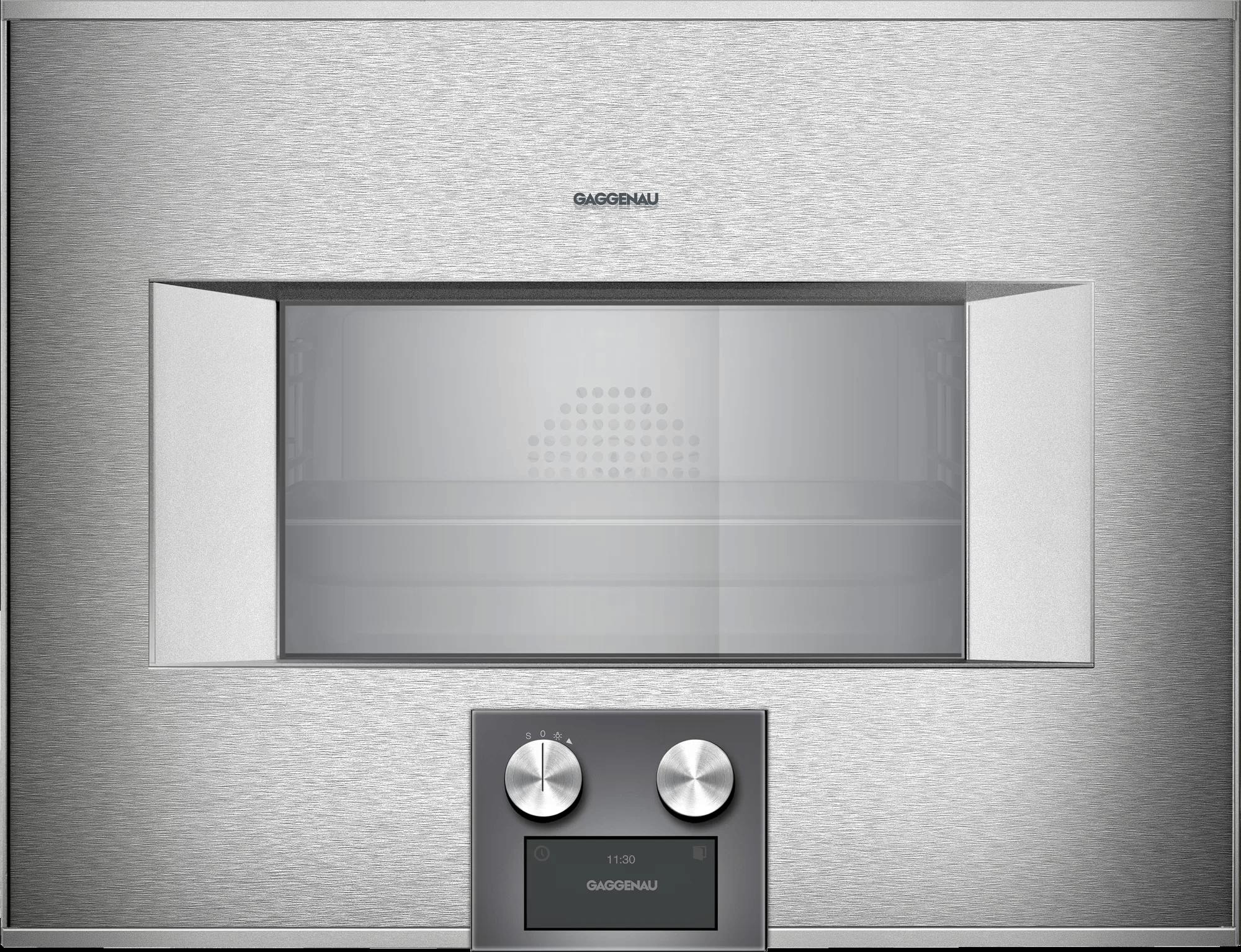400 Series Combi-steam Oven 24'' Door Hinge: Right, Door Hinge: Right, Stainless Steel Behind Glass Photo #1