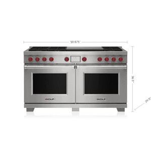 """Wolf - 60"""" Dual Fuel Range - 6 Burners and Infrared Dual Griddle"""
