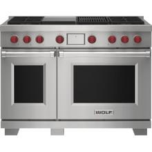 """See Details - 48"""" Dual Fuel Range - 4 Burners, Infrared Charbroiler and Infrared Griddle"""