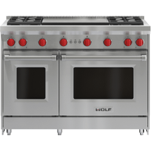 """See Details - 48"""" Gas Range - 4 Burners and Infrared Dual Griddle"""