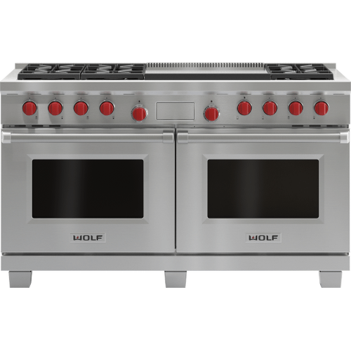 """Legacy Model - 60"""" Dual Fuel Range - 6 Burners and Infrared Dual Griddle"""