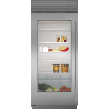 """See Details - 36"""" Classic Refrigerator with Glass Door"""
