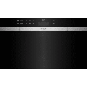 """Wolf30"""" M Series Contemporary Black Glass Convection Steam Oven with Retractable Handle"""