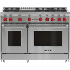 """Wolf48"""" Gas Range - 6 Burners and Infrared Griddle"""