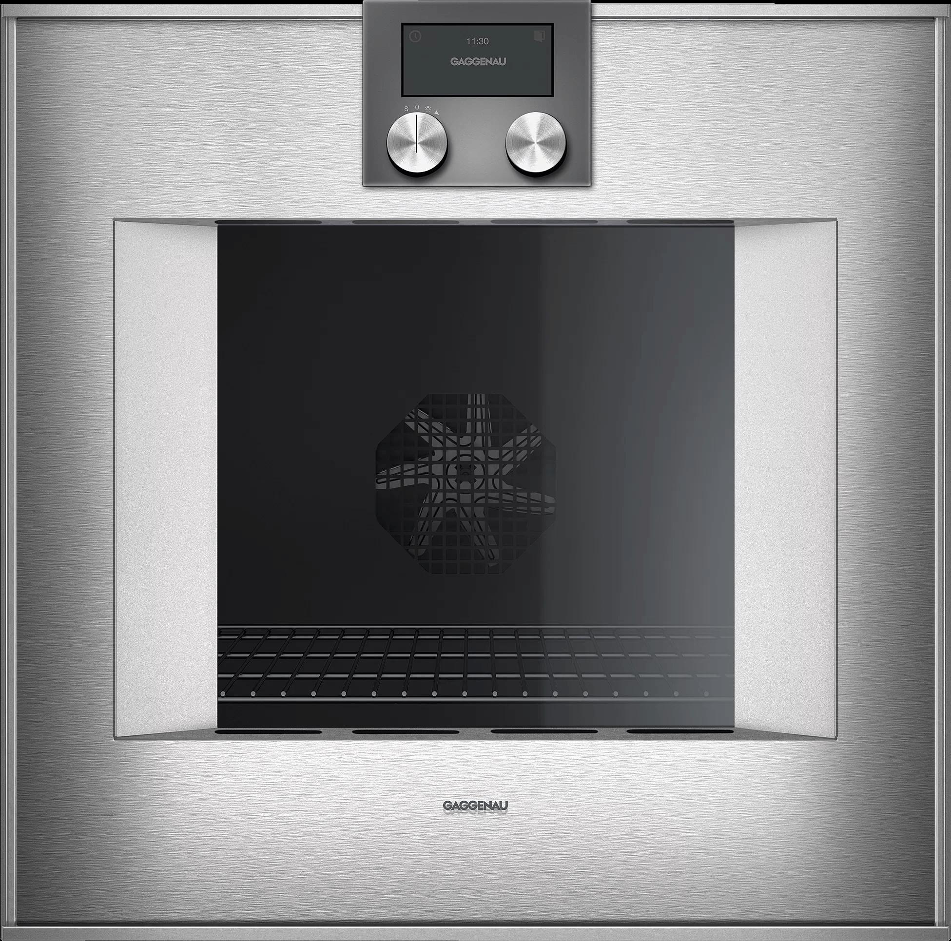 400 Series Oven 24'' Door Hinge: Right, Door Hinge: Right, Stainless Steel Behind Glass Photo #1